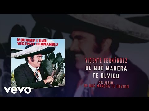 Vicente Fernández - De Qué Manera Te Olvido (Audio)