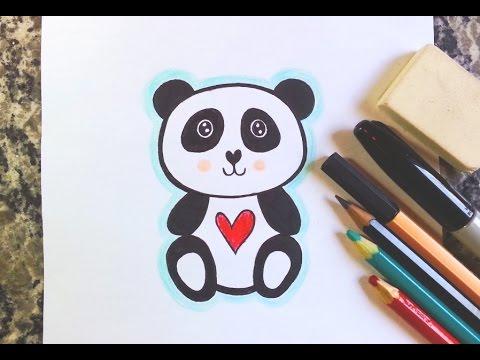 Como Desenhar Urso Panda Kawaii How To Draw Panda Youtube
