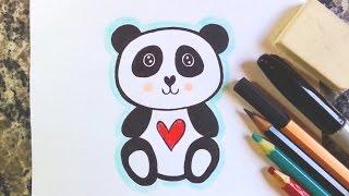 Como desenhar Urso Panda Kawaii - How to draw panda