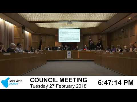 Inner West Ordinary Council Meeting 27 February 2018