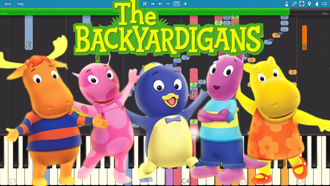 Impossible Remix The Backyardigans Theme Song Piano Cover Chords Chordify