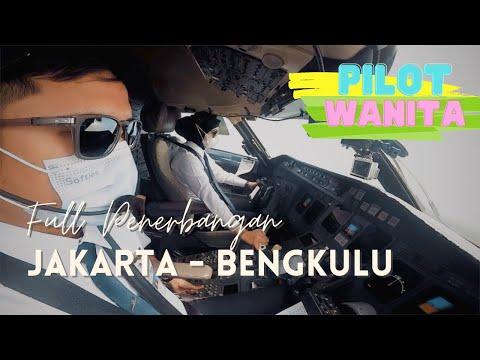 Woman Pilot | Full Flight with CRJ 1000 Jakarta - Bengkulu (WIII-WIGG)