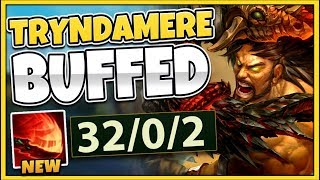 NEW TRYNDAMERE BUFFS GIVE HIM INFINITE SPINS!?! S9 TRYNDAMERE JUNGLE GAMEPLAY! - League of Legends