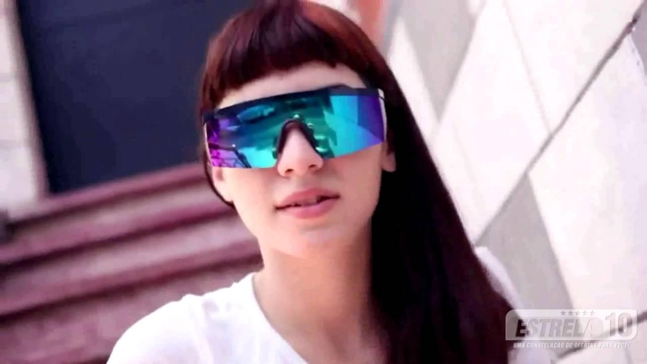 13c305c28e2e2 Óculos de Sol Azul Marinho com Lente Azul Espelhada MAMANI Absurda ...