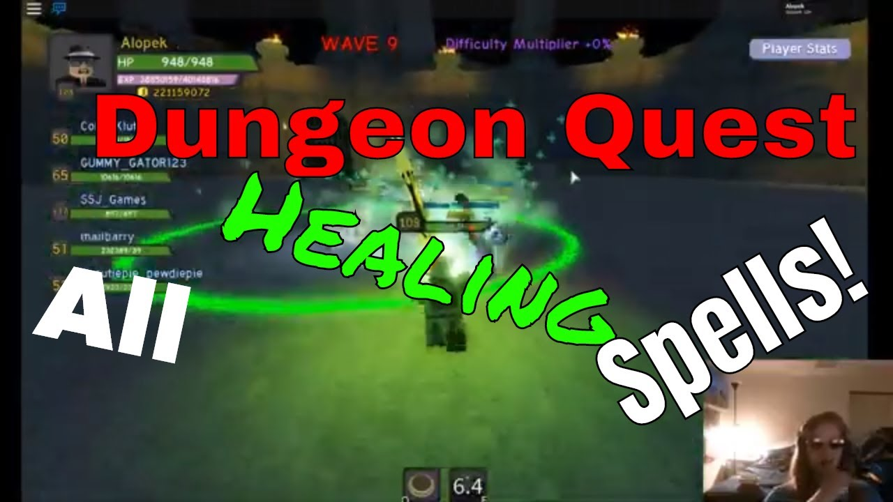 Dungeon Quest All Healing Spells Guide Roblox Youtube