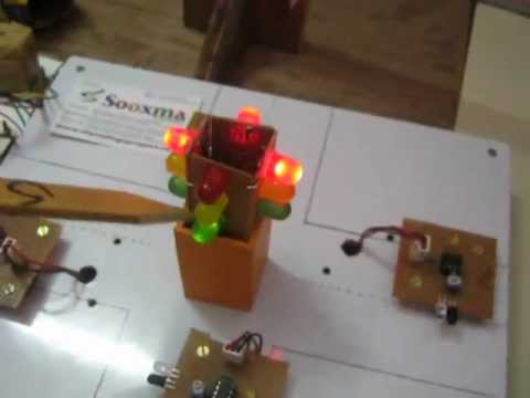 Traffic Signal controlling based on vehicle density Sensor - YouTube
