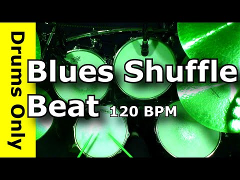 Blues Shuffle Drum Beat 120 BPM - JimDooley.net