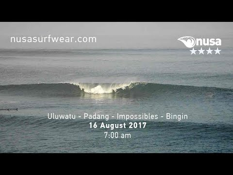 16 - 08 - 2017 / ✰✰✰✰ / NUSA's Daily Surf Video Report from the Bukit, Bali.