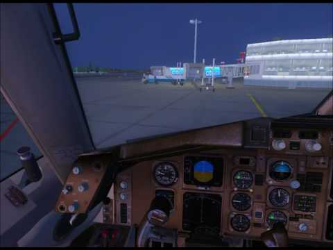 Boeing 757-200 VP-BAS Взлет из Домодедово