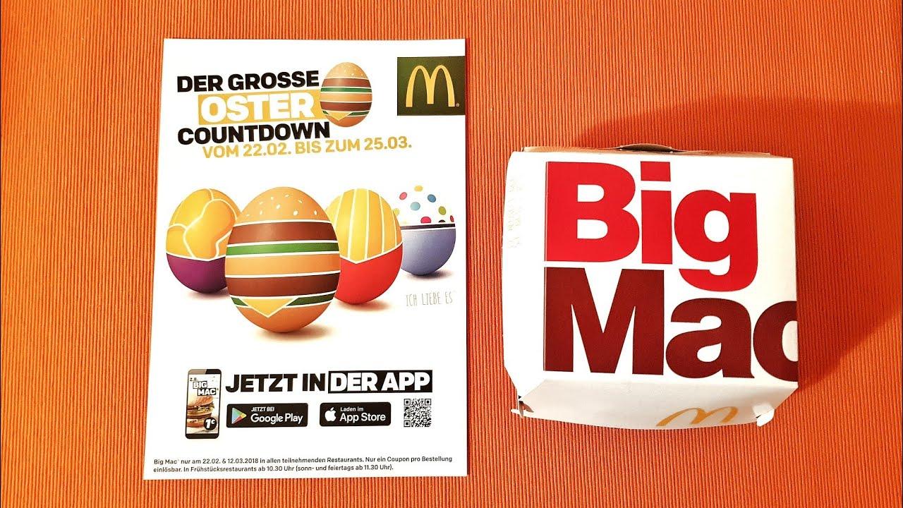1 Big Mac 32 Tage Oster Angebot Kalender Bei Mcdonald S
