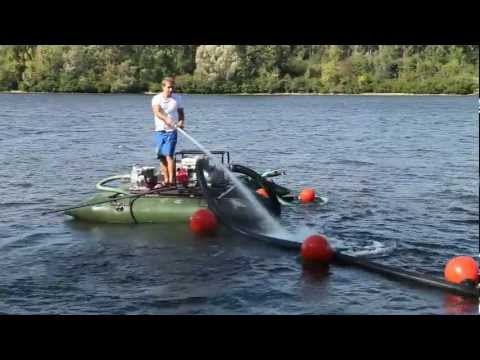 Мини земснаряд EcoLake для очистки озера.mov