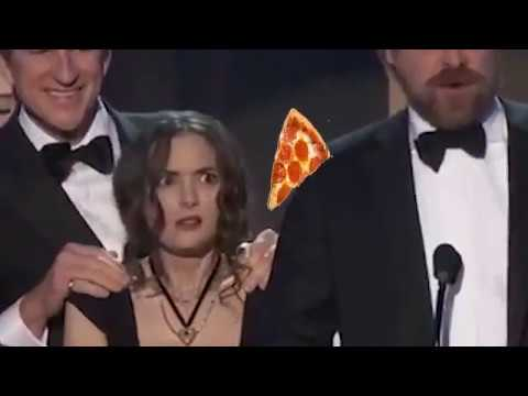 hqdefault winona ryder distracted by flying pizzas during sag awards win
