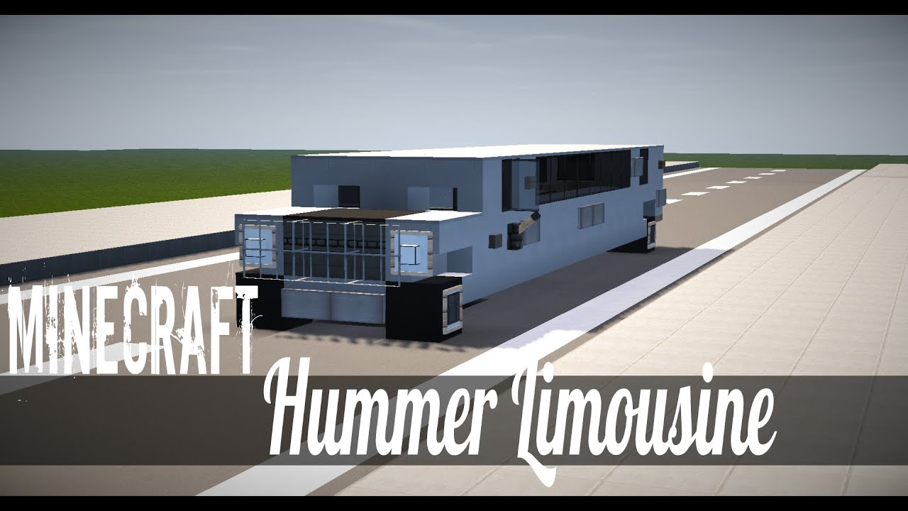 Minecraft Vehicle Tutorial How to Build Hummer Limousine