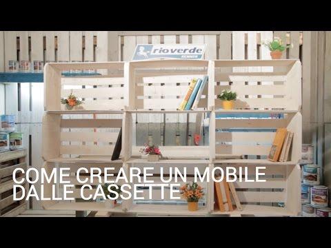 Come creare un mobile dalle cassette  YouTube