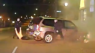 Police Pull Drunk Driver From Burning Car After Chase Ends in Crash