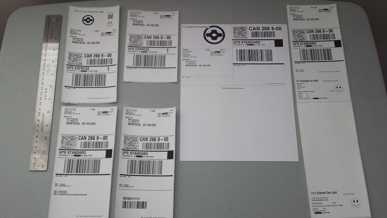 More Customized UPS Shipping labels