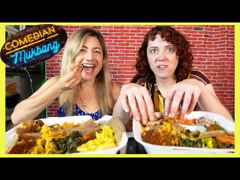 Ethiopian Food With Kristen Lundberg | Comedian Mukbang ? Ep 1