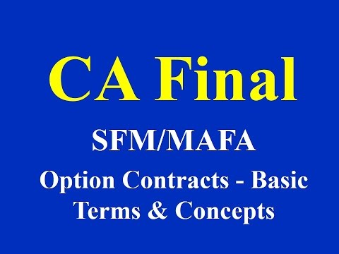 CA Final- SFM/MAFA- Option Contracts- Basic Terms & Concepts