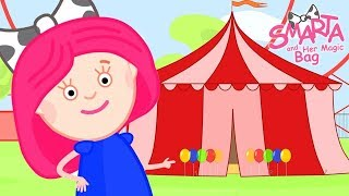 Preschool learning cartoon – Learn colors – Smarta and her magic bag: a Ferris wheel