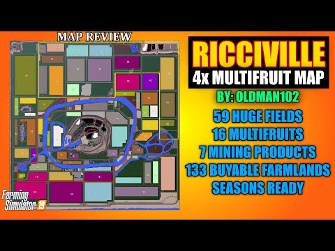 Ricciville 4x Multifruit Map V1.3 Map Review