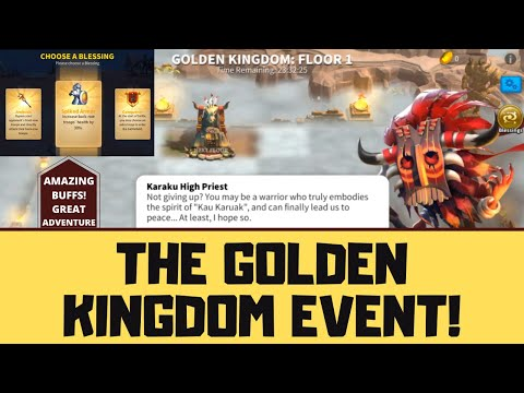NEW EVENT THE GOLDEN KINGDOM! ALL INFORMATION YOU NEED TO KNOW! RISE OF KINGDOMS