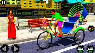 Bicycle Tuk Tuk Auto Rickshaw : New Driving Games - Best Android GamePlay screenshot 5