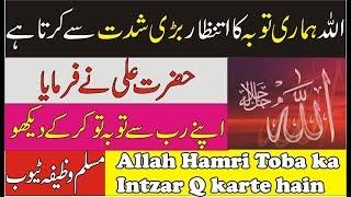 Allah Apne Bando ki toba ka intizar q karta ha Muslim Wazifa Tube