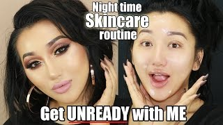 NIGHT TIME SKINCARE ROUTINE || HOW TO GET RID OF ACNE SCARS