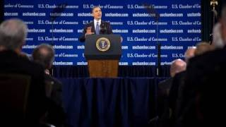 President Obama Addresses U.S. Chamber of Commerce