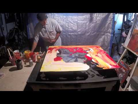 Pouring Acrylic on Glass