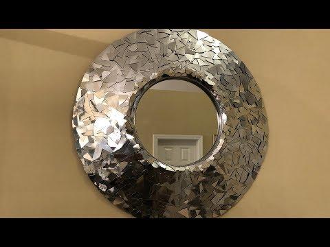 Dollar Tree DIY - 💕 Silver Metallic Decorative Wall Mirror 💕