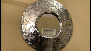 Dollar Tree DIY - 💕 Silver Metallic Decorative Wall Mirror 💕