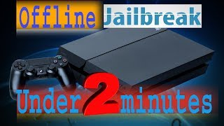 PS4 5.05 offline  jailbreak  under 2 minutes  [ in HINDI ]