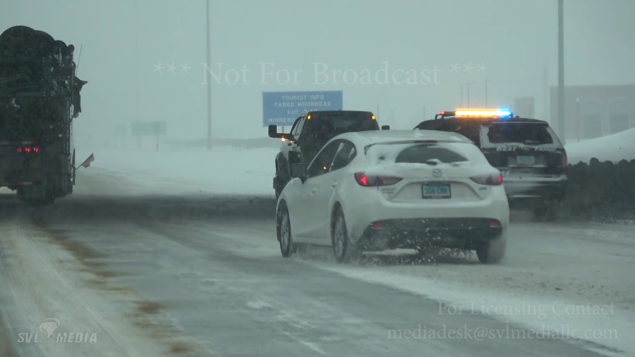2/20/19 - Fargo, ND and Moorhead, MN area - I-94 Pile up West Fargo,  Morning Accidents