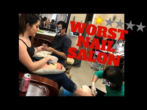 Going To The Worst Reviewed NAIL SALON In My City!! **1 STAR**