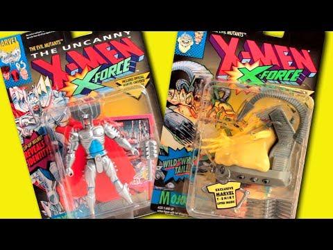 Disney Marvel X-Men Cartoon Toys - STRYFE & MOJO Evil Mutants Playset Toy Biz - 동영상