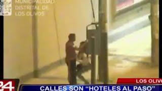 Cámaras de seguridad captan a parejas teniendo sexo en calles de Lima thumbnail