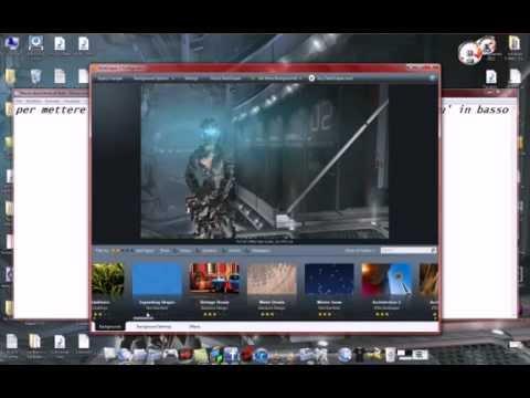 Come mettere sfondi animati hd sul desktop youtube for Sfondi pc animati