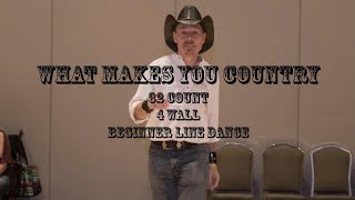 What Makes You Country - Line dance demo