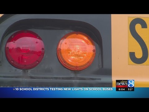 10 school districts testing new lights on buses