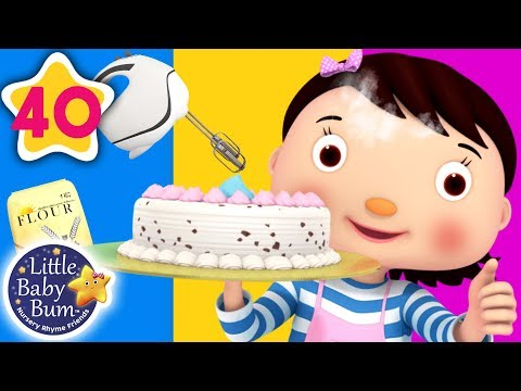 1, 2 What Shall We Do? | Let's Bake a Cake +More Nursery Rhymes & Kids Songs | Little Baby Bum