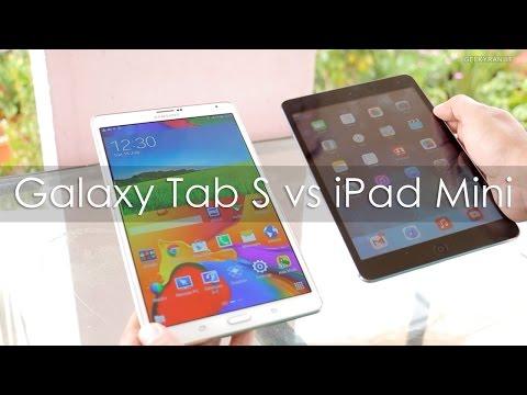 Samsung Galaxy Tab S 8.4 vs iPad Mini Retina Compared