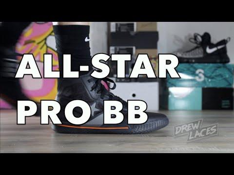 Converse All Star Pro BB Black on Feet