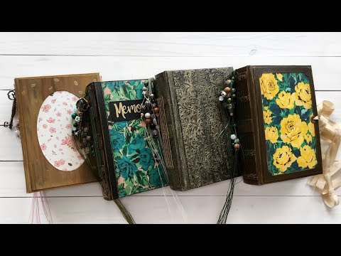 NEW Vintage Junk Journals | Floral Handmade Books | Hand-pai