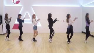 a pink only one dance practice mirrored