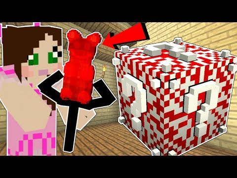 Minecraft: CANDY LUCKY BLOCK!!! (GUMMY BEAR WEAPONS, CANDY ARMOR, & MORE!) Mod Showcase