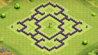 clash of clans awesome town hall 7 trophy clan war base