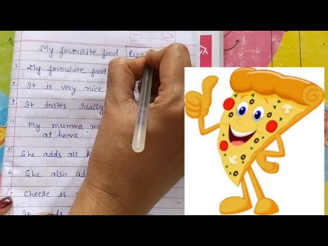 10 Lines On My Favourite Food Pizza My Favourite Dish Pizza For Kids My Favourite Pizza Youtube