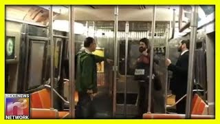 Bat Wielding NYC Subway Rider Picks On WRONG Guy To Fight With