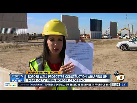 Border wall prototypes almost complete